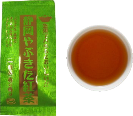 和紅茶(やぶきた紅茶)のパッケージと水色