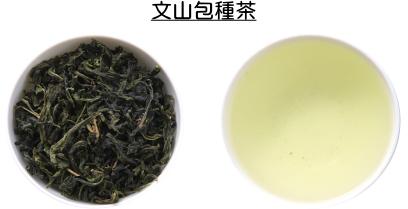 文山包種茶の茶葉と水色