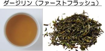 ダージリンファーストフラッシュの茶葉と水色
