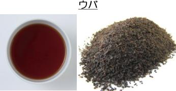 ウバの茶葉と水色