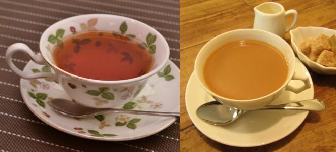 紅茶(ストレートティー、ミルクティー)