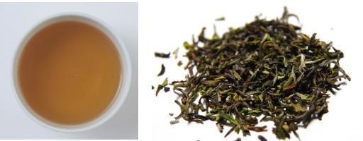 ダージリンファーストフラッシュの茶葉&水色