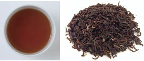 ダージリンセカンドフラッシュの茶葉&水色