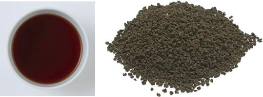 アッサムCTCの茶葉&水色
