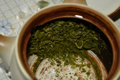 緑茶の茶殻