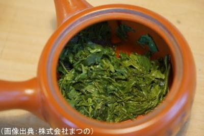 良い煎茶の茶殻