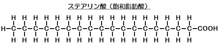 ステアリン酸(飽和脂肪酸)