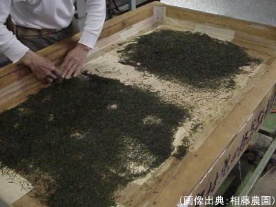 手作業による乾燥