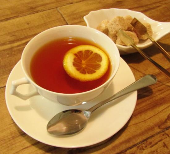 ウーロン茶のレモンティー