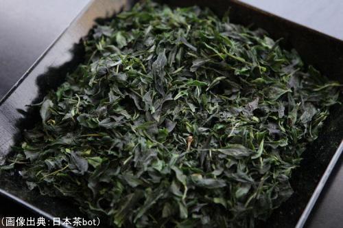 碾茶の茶葉