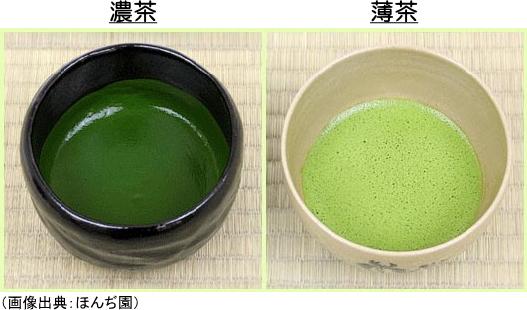 濃茶と薄茶