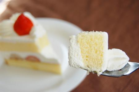 ケーキの最も美味しい一口目