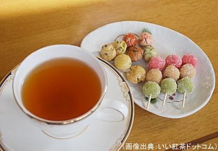 和菓子と紅茶