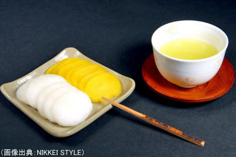 緑茶と漬物