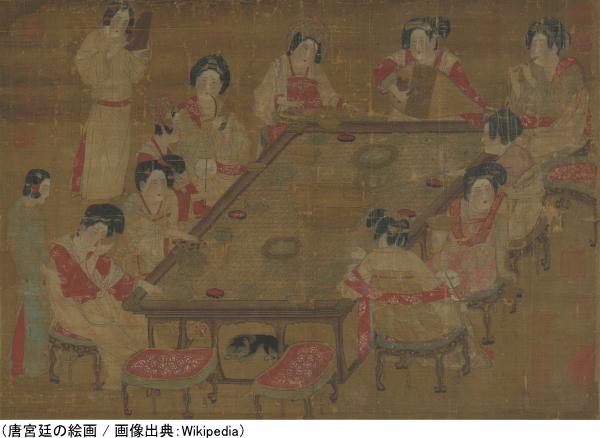 唐宮廷の絵画
