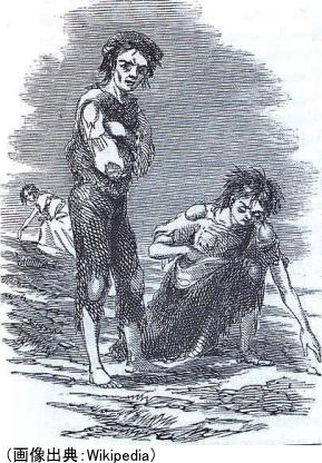 ジャガイモ飢饉により飢えに苦しむ人々