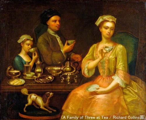 紅茶を飲む貴婦人家族(A Family of Three at Tea)