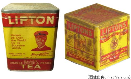 リプトンの初期のパッケージ