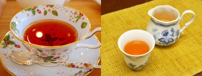 紅茶とウーロン茶
