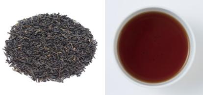 紅茶(キーマン)の茶葉、水色