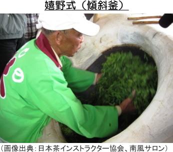 嬉野式の釜炒り
