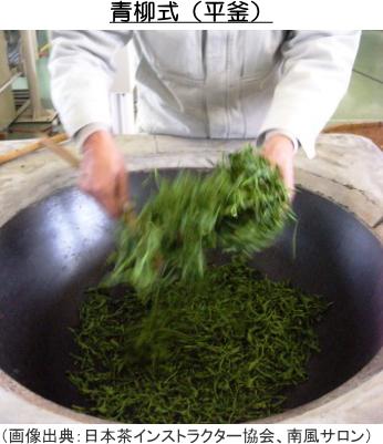 青柳式の釜炒り