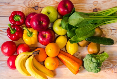 たくさんの野菜と果物