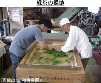 緑茶の揉捻