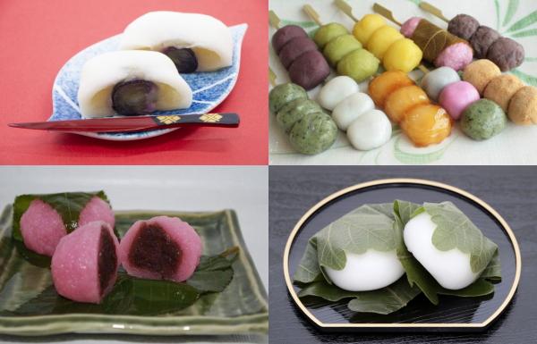 大福、,団子、桜餅、柏餅