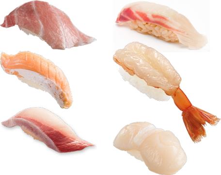 寿司屋の脂の多いネタ、淡泊なネタ