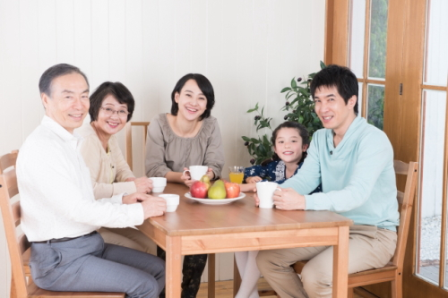 家族でお茶会